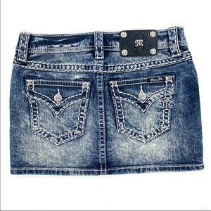 Miss Me • Mini Jean Skirt